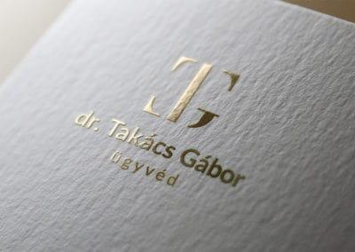 Takács Gábor ügyvéd – logótervezés, arculattervezés, grafikai tervezés